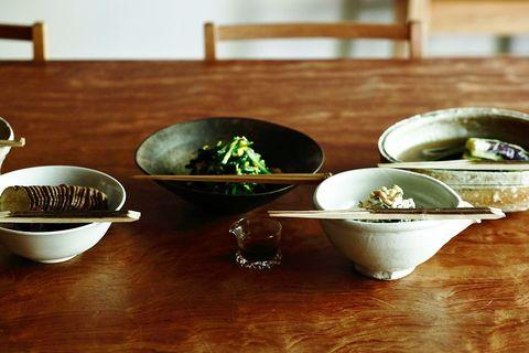 Bowl, Dish, Porcelain, Food, Dishware, Tableware, Cuisine, Mixing bowl, Vegetarian food, Comfort food,