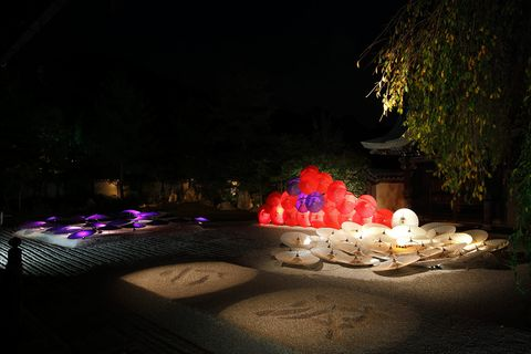 Night, Light, Darkness, Midnight, Decoration, Water feature, Landscape lighting, Still life photography,