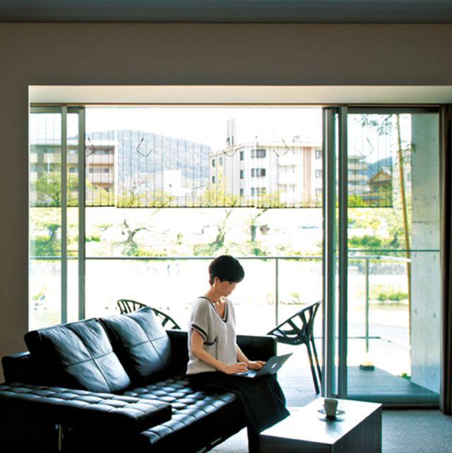 Interior design, Comfort, Floor, Flooring, Couch, Daylighting, Fixture, Living room, Home, studio couch,