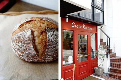 Bread, Stairs, Door, Baked goods, Fixture, Rye bread, Brown bread, Sourdough, Finger food, Home door,