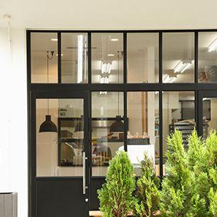 Glass, Flowerpot, Fixture, Door, Transparent material, Home door, Door handle, Houseplant, Handle, Daylighting,