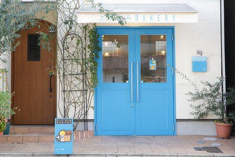Blue, Door, Flowerpot, Home door, Teal, Turquoise, Fixture, Azure, Majorelle blue, House,