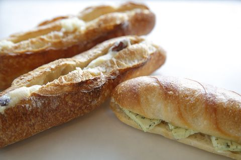 Food, Cuisine, Ingredient, Baked goods, White, Finger food, Breakfast, Dish, Bread, Gluten,