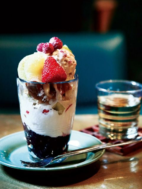 Food, Cuisine, Dish, Sundae, Dessert, Knickerbocker glory, Frozen dessert, Ingredient, Cranachan, Ice cream,