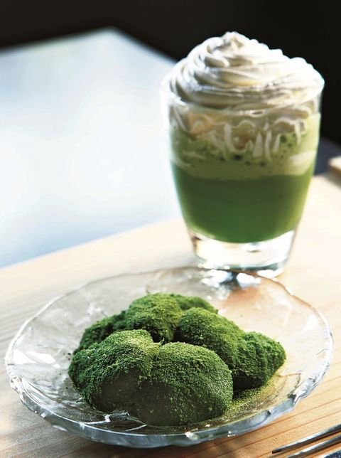 Food, Green, Ingredient, Cuisine, Dessert, Whipped cream, Dishware, Leaf vegetable, Dairy, Cream,