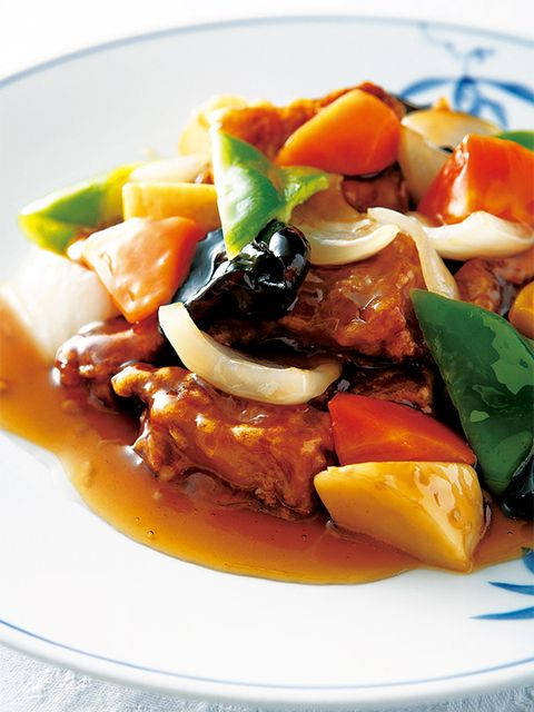 Dish, Food, Cuisine, Ingredient, Meat, Sweet and sour, Produce, Recipe, Sweet and sour pork, Vegetarian food,