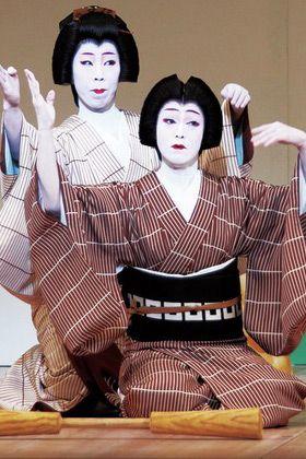 Hairstyle, Style, Shimada, Costume, Eyelash, Sakko, Makeover, Kimono, Mime artist, Vintage clothing,