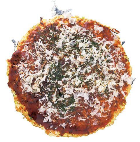 Dish, Food, Cuisine, Ingredient, Okonomiyaki, Fried food, Recipe, Pizza, Produce, Comfort food,