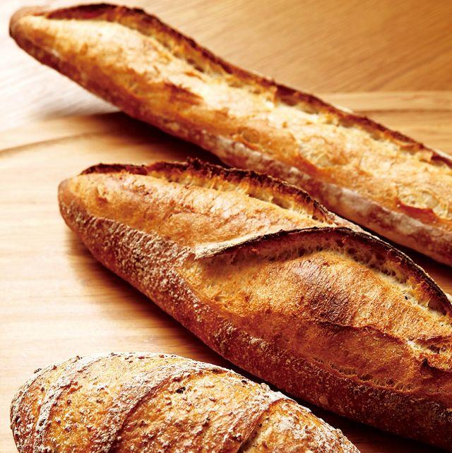 Food, Bread, Baguette, Hard dough bread, Dish, Cuisine, Sourdough, Baked goods, Ingredient, Potato bread,