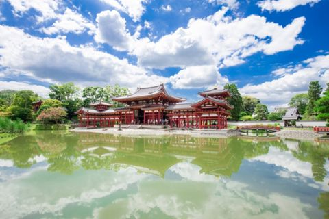Nature, Reflection, Chinese architecture, Pond, Garden, Japanese architecture, Lake, Reflecting pool, Cumulus, Reservoir,