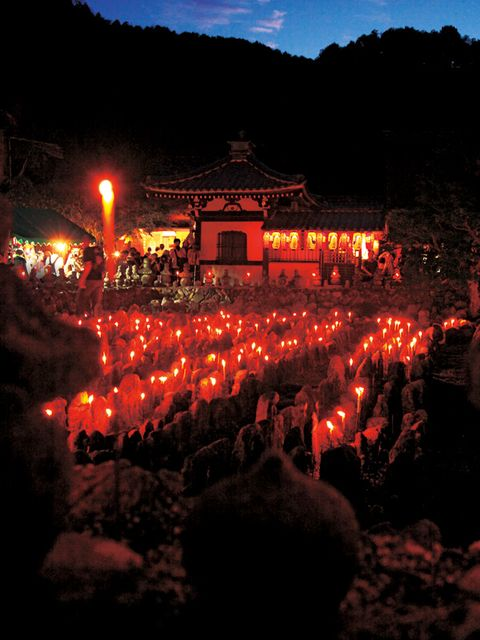 Lighting, Night, Crowd, Candle, Tradition, Heat, Japanese architecture, Festival, Tourist attraction, Temple,