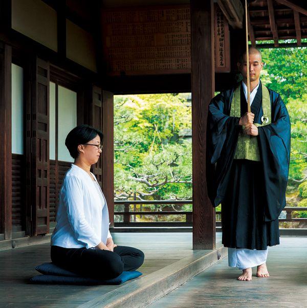 Human body, Sitting, Temple, Meditation, Fedora, Sun hat, Temple, Place of worship, Japanese architecture,
