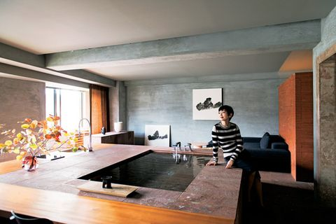 Interior design, Room, Countertop, Ceiling, Wall, Interior design, Floor, Plywood, Design, Kitchen,