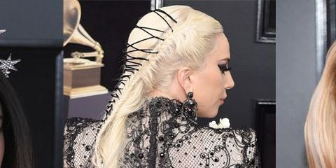 Hair, Clothing, Fashion, Dress, Hairstyle, Haute couture, Blond, Shoulder, A-line, Long hair,