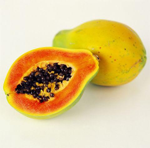 Papaya, Food, Fruit, Plant, Natural foods, Produce, Superfood, Accessory fruit, Ingredient, Sweet granadilla,
