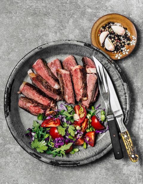 Dish, Food, Cuisine, Flat iron steak, Ingredient, Meat, Rib eye steak, Steak, Sirloin steak, Beef,