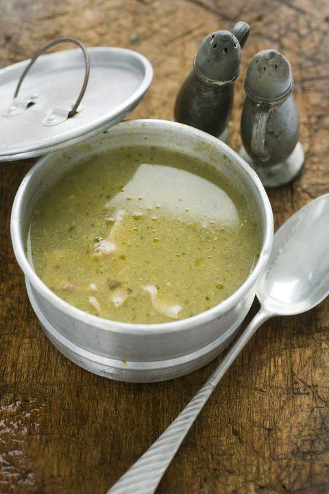 Food, Dish, Cuisine, Pea soup, Soup, Ingredient, Sorrel soup, Produce, Cream of mushroom soup, Leek soup,