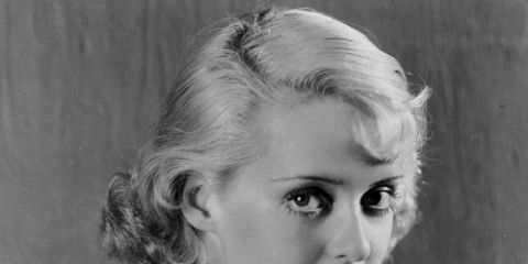 Hair, Face, Photograph, Hairstyle, Shoulder, Eyebrow, Blond, Beauty, Lip, Black-and-white,