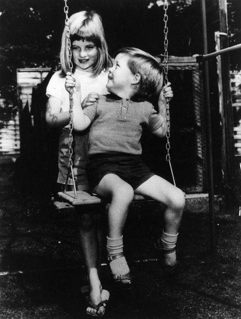Swing, Photograph, People, Child, Black-and-white, Snapshot, Standing, Monochrome, Public space, Fun,