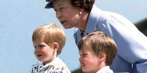エリザベス女王とウィリアム王子&ヘンリー王子