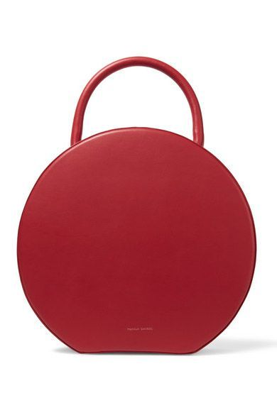 Red, Bag, Handbag, Fashion accessory, Circle, Magenta, Leather, Luggage and bags,