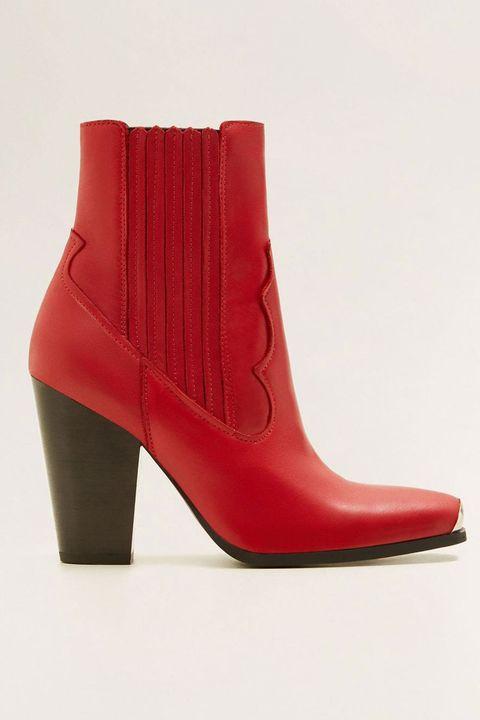 Footwear, Boot, Red, Shoe, High heels, Leather,