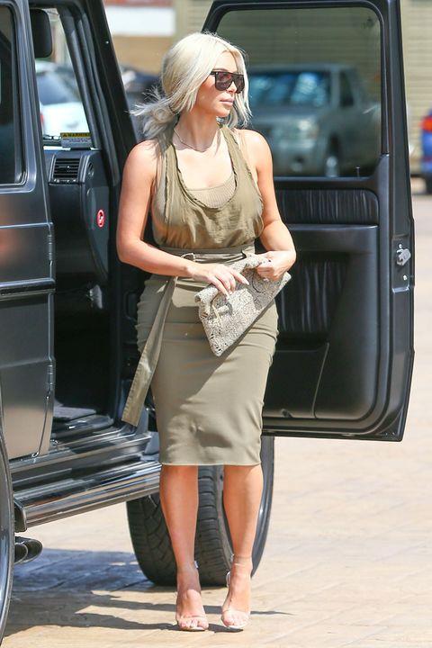 Street fashion, Clothing, Fashion, Snapshot, Leg, Sunglasses, Waist, Dress, Vehicle, Footwear,