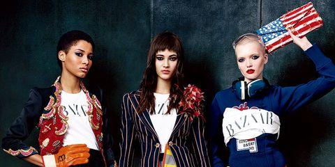 Flag, Sleeve, Textile, Red, Collar, Style, Pattern, Fashion, Bag, Street fashion,