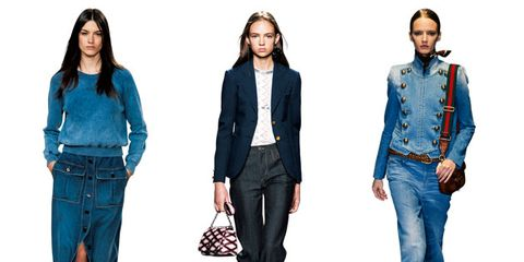 Clothing, Blue, Brown, Denim, Sleeve, Trousers, Collar, Textile, Outerwear, White,
