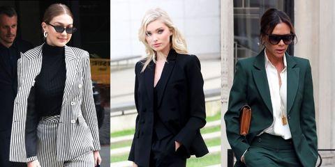 Suit, Clothing, Formal wear, Fashion, Blazer, Outerwear, Street fashion, Pantsuit, Fashion model, Tuxedo,