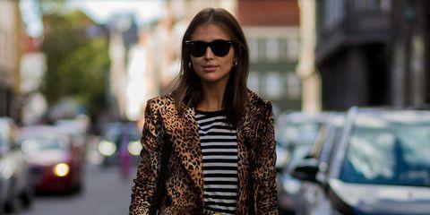 Clothing, Street fashion, Fashion, Eyewear, Dress, Brown, Sunglasses, Outerwear, Fashion model, Footwear,