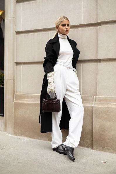White, Clothing, Street fashion, Suit, Fashion, Shoulder, Snapshot, Formal wear, Fashion model, Outerwear,