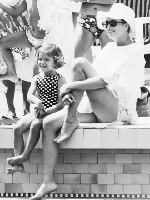 Photograph, Snapshot, Leg, Black-and-white, Standing, Fun, Retro style, Child, One-piece swimsuit, Photography,