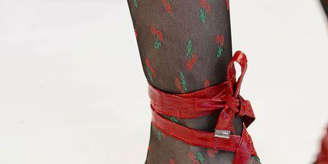Footwear, Red, Boot, Costume accessory, Carmine, High heels, Fashion, Maroon, Sandal, Foot,
