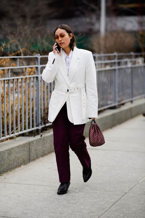 White, Suit, Clothing, Photograph, Street fashion, Blazer, Fashion, Outerwear, Snapshot, Formal wear,