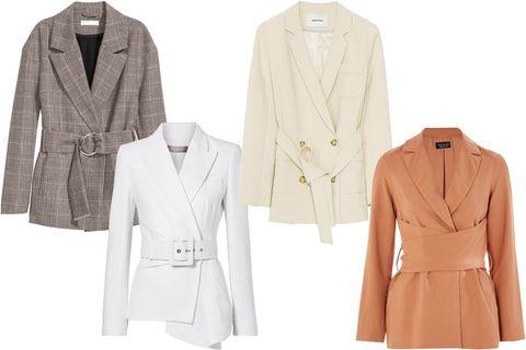 Clothing, Outerwear, Blazer, Jacket, Coat, Sleeve, Overcoat, Beige, Suit, Formal wear,