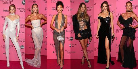 Fashion model, Clothing, Fashion, Pink, Red carpet, Carpet, Dress, Leg, Shoulder, Thigh,