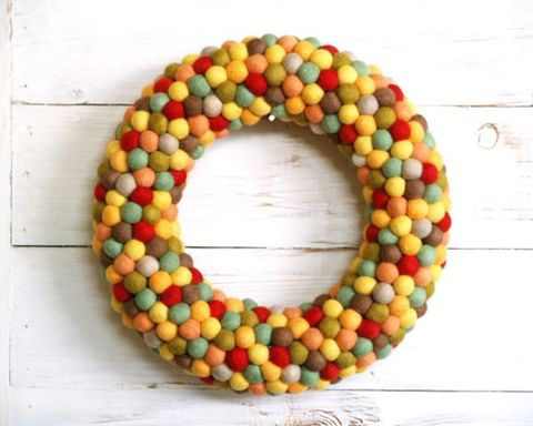 Candy corn, Bead, Food, Candy, Art, Confectionery, Fashion accessory, Wreath,