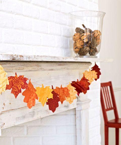 Leaf, Orange, Yellow, Room, Textile, Autumn, Plant, Furniture, Twig, Interior design,