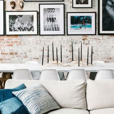 White, Room, Black-and-white, Living room, Wall, Interior design, Furniture, Turquoise, Table, Monochrome photography,