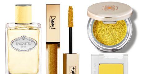 Cosmetics, Product, Beauty, Perfume, Yellow, Material property, Liquid,