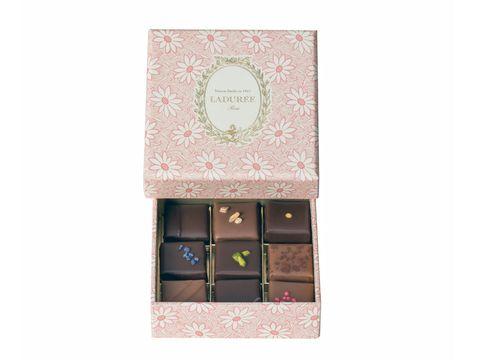 Pink, Chocolate bar, Rectangle, Chocolate,