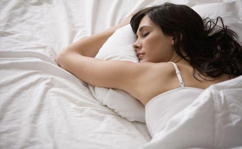 Comfort, Shoulder, Elbow, Linens, Bedding, Beauty, Neck, Eyelash, Black hair, Model,