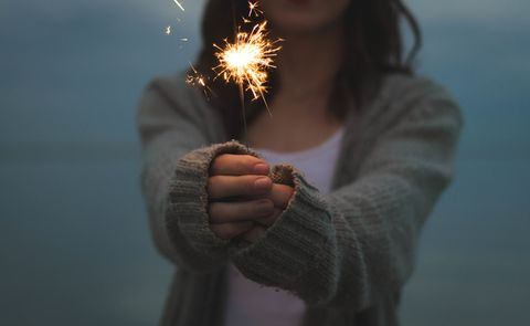 Finger, Hand, Photograph, Joint, Happy, People in nature, Gesture, Holiday, Sparkler, Thumb,