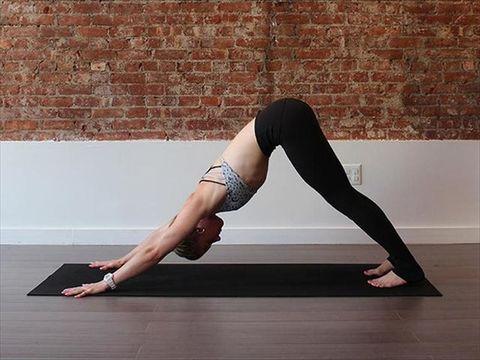 Physical fitness, Leg, Yoga, Shoulder, Thigh, Yoga mat, Joint, Human leg, Knee, Arm,