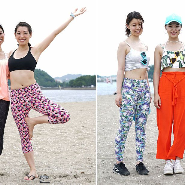 Clothing, Waist, Textile, Leisure, Style, People in nature, Summer, Exercise, Pattern, Active pants,