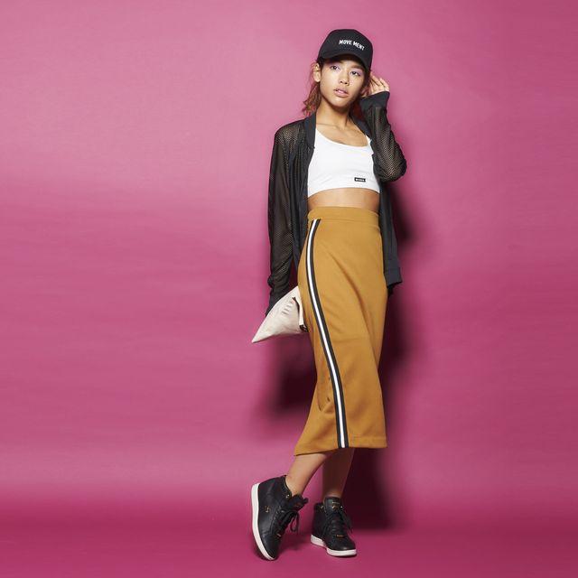 Fashion model, Pink, Clothing, Fashion, Yellow, Magenta, Dress, Shoulder, Formal wear, Fashion design,