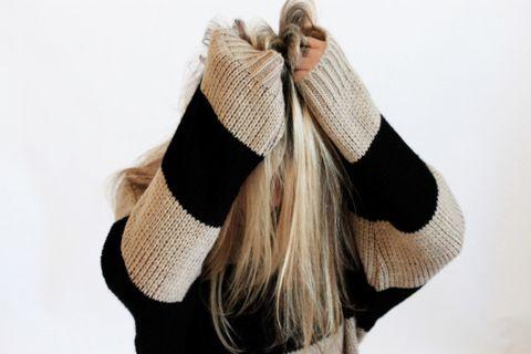 Hair, Wool, Woolen, Beige, Headgear, Outerwear, Fashion accessory, Scarf, Beanie, Fur,