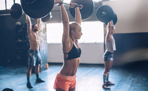 Strength training, Physical fitness, Weights, Exercise equipment, Shoulder, Weight training, Crossfit, Bodypump, Barbell, Fitness professional,