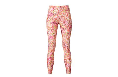 Clothing, Pink, Leggings, Tights, Trousers, Waist, Active pants, Peach, Visual arts, Muscle,